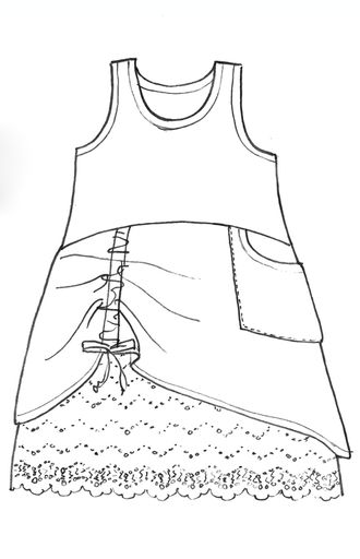 Firefly Shift with a cap sleeve it is a cute dress or shirt