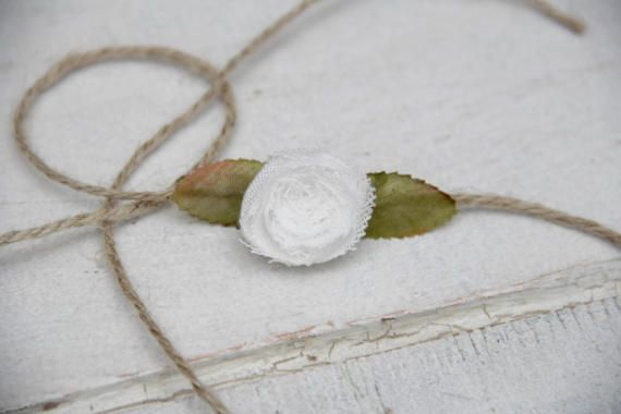 Rustic White Rose tie back headband by BabyFripperies on Etsy
