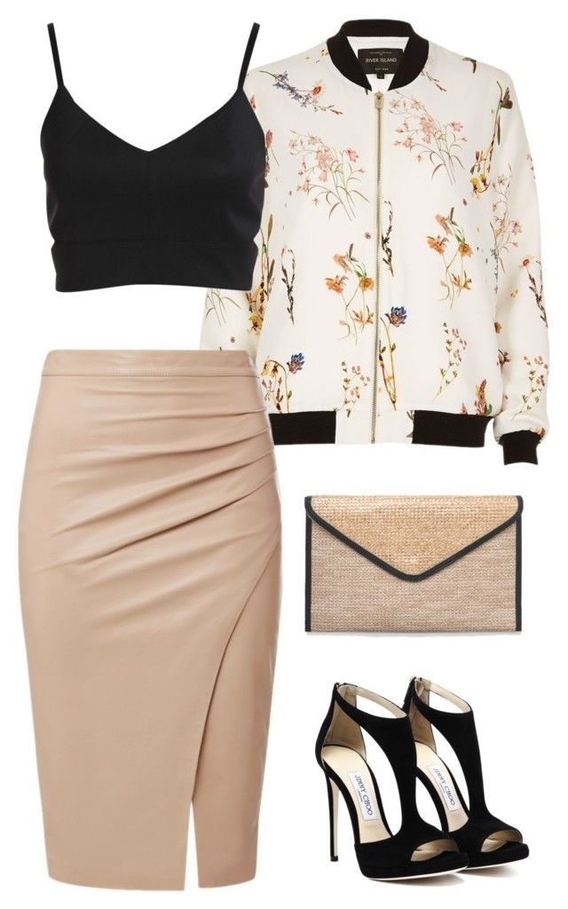 """""""Untitled #803"""" by mrseclipse ❤ liked on Polyvore featuring River Island and Ashley Stewart"""