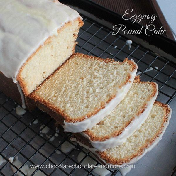 Eggnog Pound Cake with an Eggnog Glaze! Eggnog.
