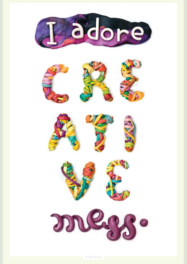 'I adore creative mess' by Olga Protasova via Behance