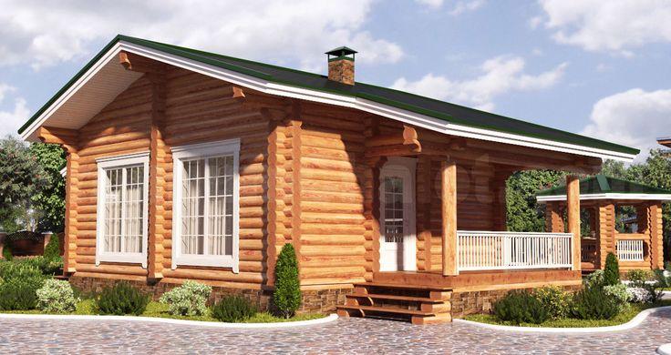 Проект деревянной бани — Баня из бревна ММ-5