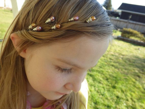Hair jewelry! Hair Pins are great for growing out bangs!  Unique handmade beaded bobby pins with Freshwater Pearls.