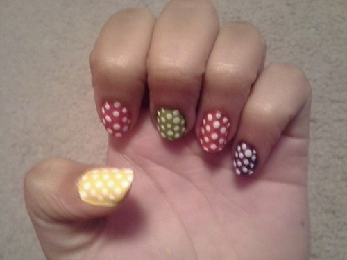 115 best nail designs images on pinterest nail designs and nails love the polka dots sciox Image collections