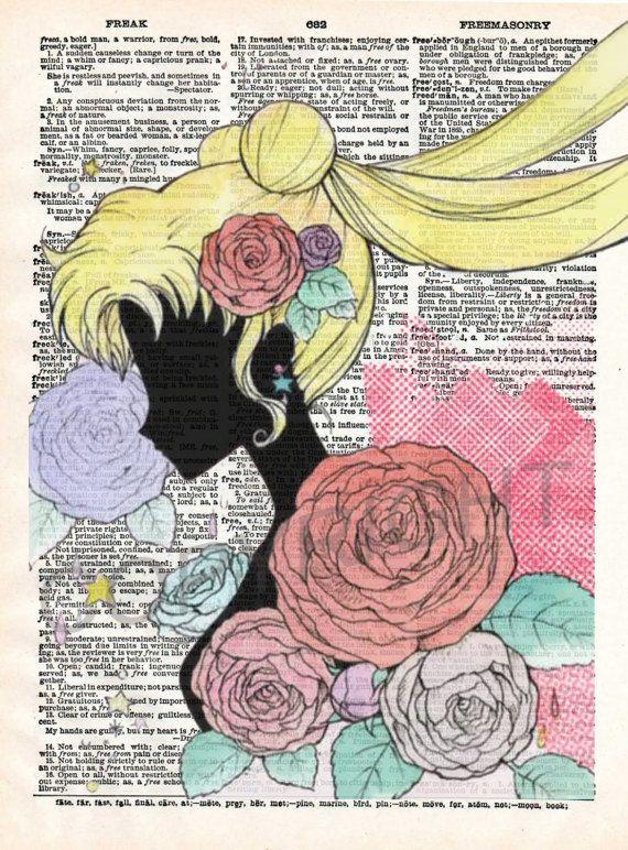 Impresión del arte de Sailor Moon cristal por AmourPrints en Etsy