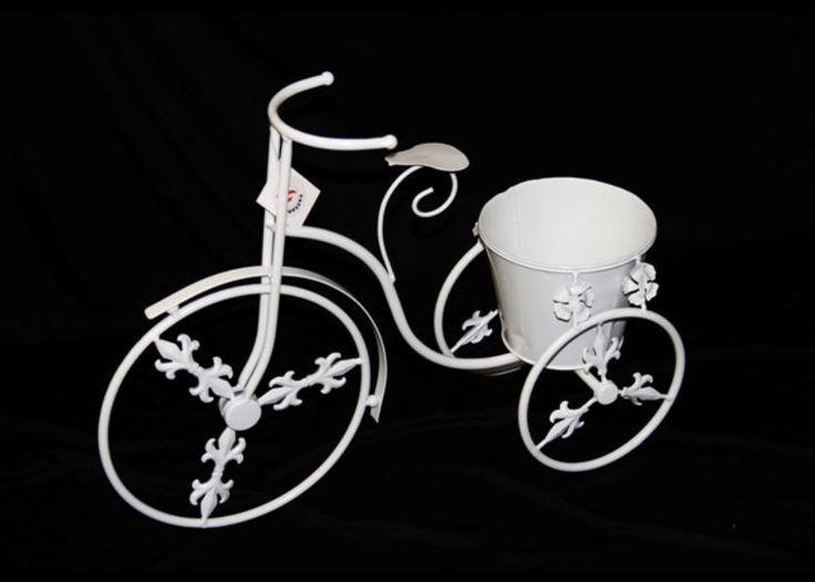 Beyaz Ferforje Bisiklet Çiçeklik 08