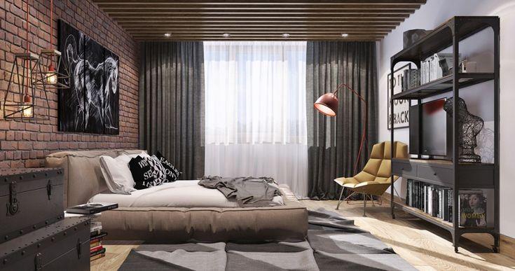 кирпичная стена в спальне - Поиск в Google