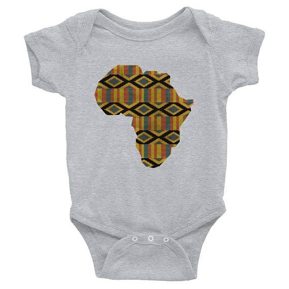 1e2705f21 Kente baby African Map Afro Africa Baby Shower Gift africa onesie ...