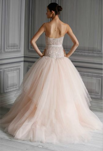 rose gold wedding dress