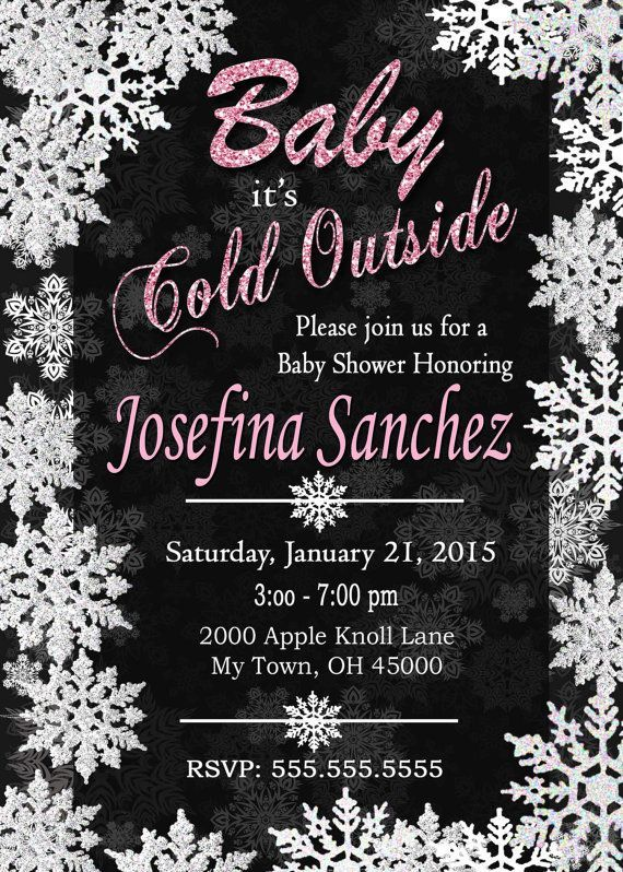 Baby Its Cold Outside Baby Shower Invitation. by M2MPartyDesigns