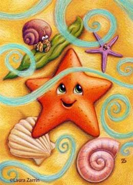 Starfish Illustration by Laura Zarrin