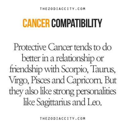 OH. MY. GOSH. My Cancer father married my Sagittarius mother and I, Cancer, have a terrible crush on a Leo 6.6