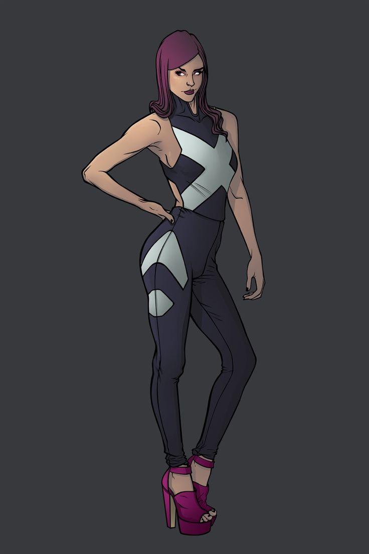 X-Women Marvel Fashion Serie: Elizabeth Braddock aka Psylocke Find her on my artbook and go help me make that book real https://www.kickstarter.com/projects/1741342043/kicking-ass-and-wearing-heels-the-fashion-art-of-c