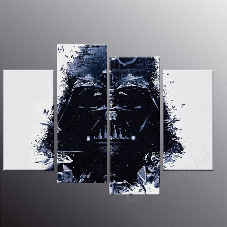 4 Piece Printed star wars canvas art modern painting room decoration print poster wall pictures for living room