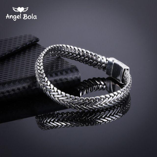 Happy Deal $8.90, Buy Ancient Silver Fashion Punk Buddha Bracelet for Women DIY Bangles Charms Bracelets Men Pulseira Jewelry Gifts B1019-16