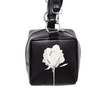 LALA IKAI Ladies Floral Leather Bag Famous Brand Fashion Black Leather Purse Designer Cube Women's Leather Handbags BWC0467-5