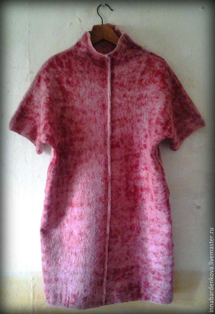 """Купить платье, туника, свитер """" Клюква в сахаре """" - бордовый, однотонный, купить платье"""