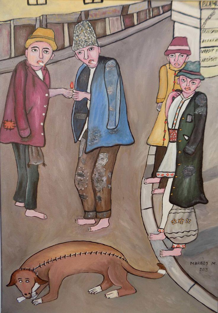 Pictura naiva | Cinci calici | Boutiq Art