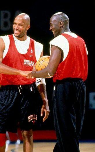 Ron Harper and Michael Jordan:: Daps
