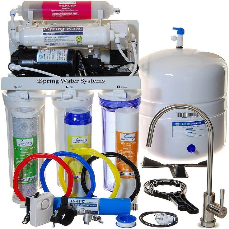 iSpring RCC7P-AK WQA Gold Seal 6-Stage 75-GPD Reverse-osmosis Water Filter System (75GPD Booster Pump & Alkaline Mineral stage)