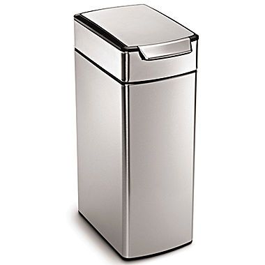jcp | simplehuman® 40L Brushed Stainless Steel Slim Touch-Bar Trash Can