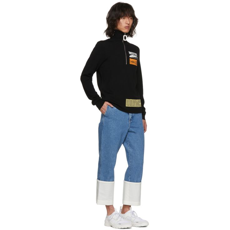 Black Bubblegum Zip Sweater