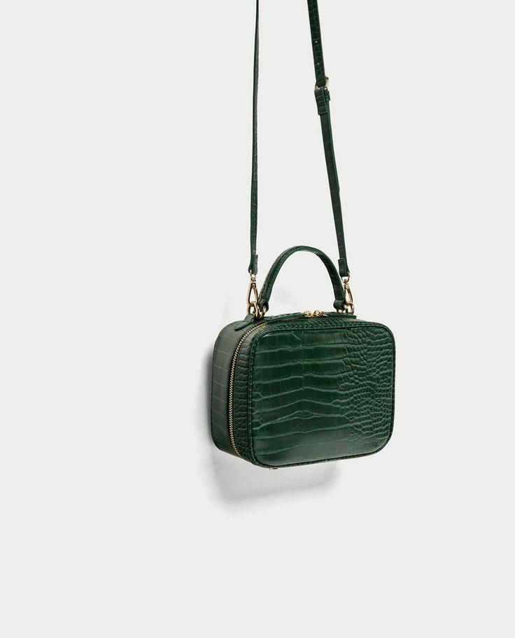 EMBOSSED MESSENGER BAG from Zara