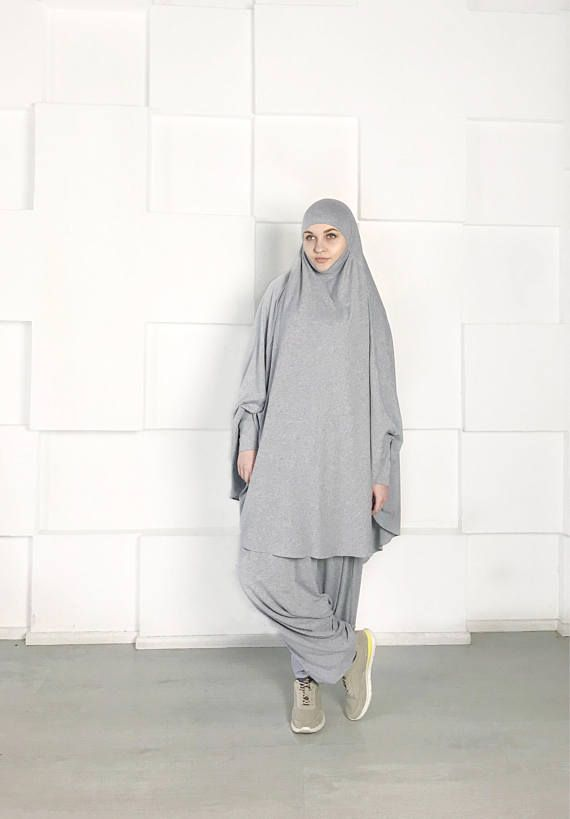 Franch #muslim  suit, #Muslimsport suit, #Harem pants, Islamic dress , Long hijab, Stylish Sport #hijab , Gray #niqab , Boho Pants, #afghani  #pants