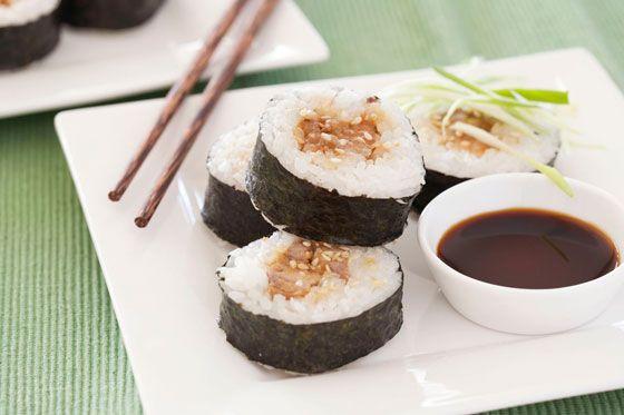 Teriyaki chicken sushi....yum!