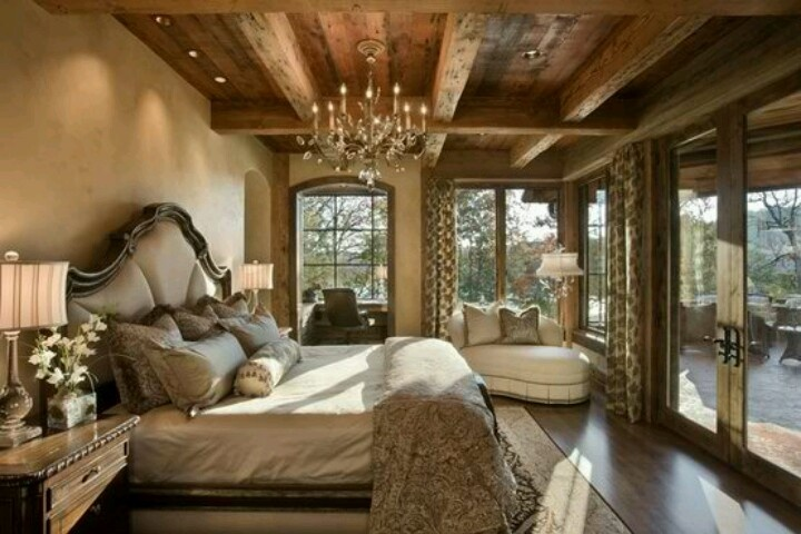 Elegant and rustic bedroom  Ideas for the House  Pinterest  Rustic bedrooms, Bedroom ideas