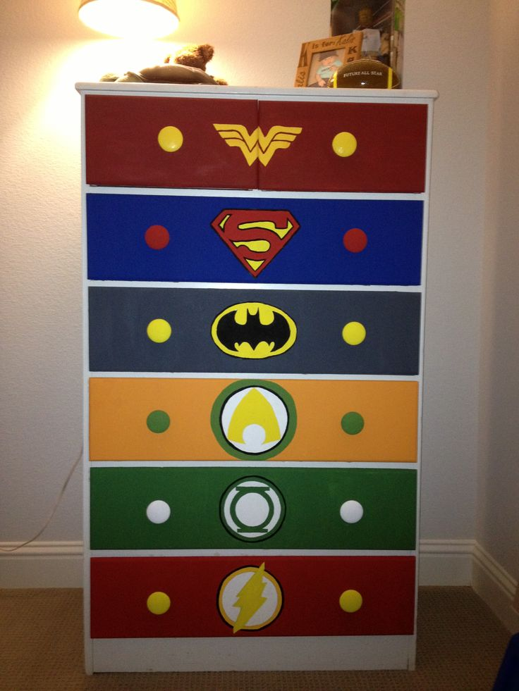 Justice league comic dresser