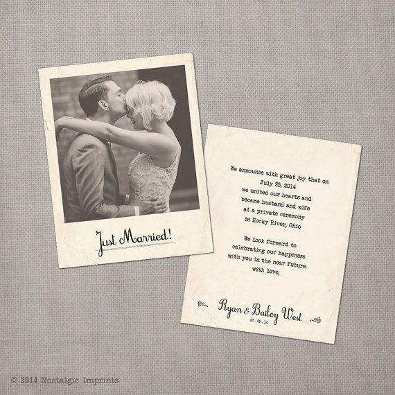 Vintage Wedding Announcement Cards  the by NostalgicImprints, $37.00