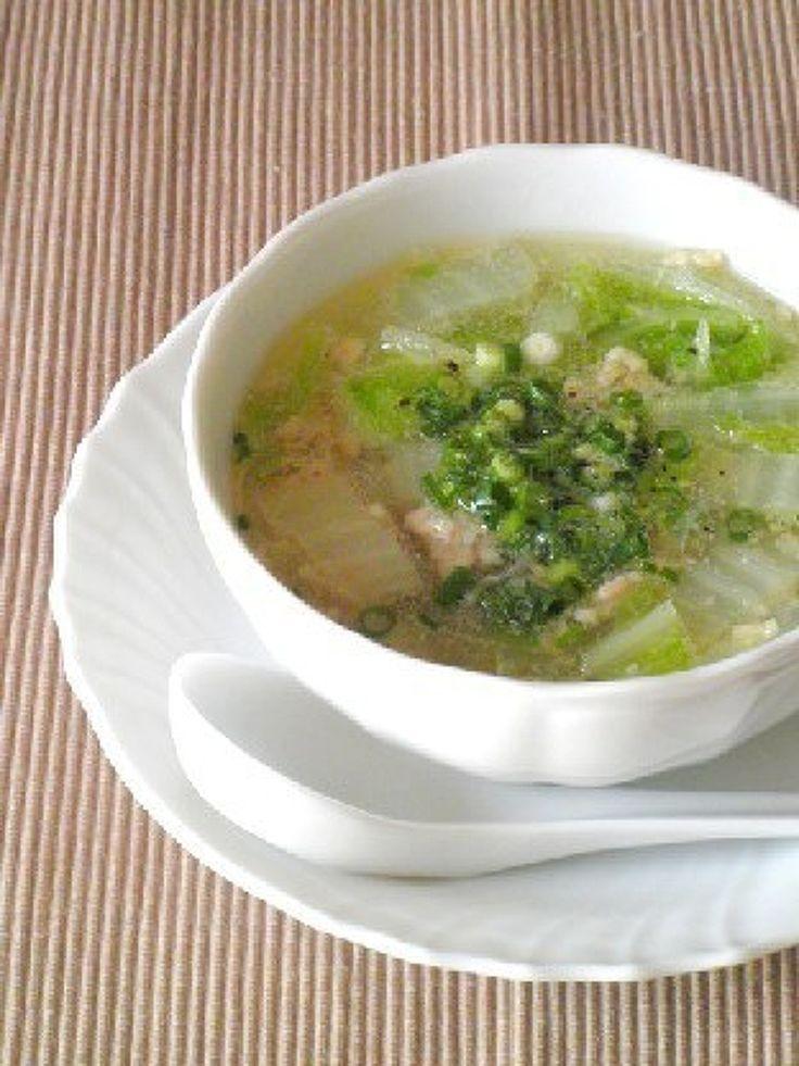 3分煮るだけ☆鶏挽肉と白菜の春雨スープ by Y's | レシピサイト「Nadia | ナディア」プロの料理を無料で検索