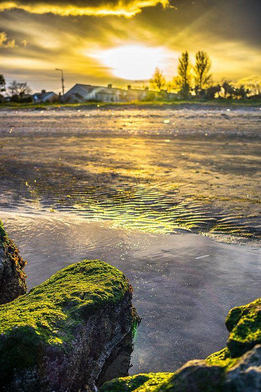 Sunset at Sandymount beach, Dublin, Ireland