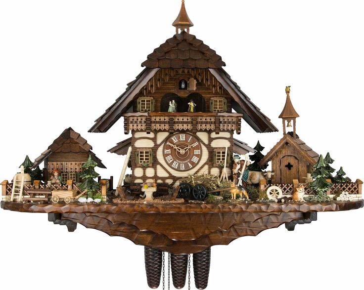 black forest chalet cuckoo clock | Cuckoo Clock 8-day-movement Chalet-Style 55cm by August ...