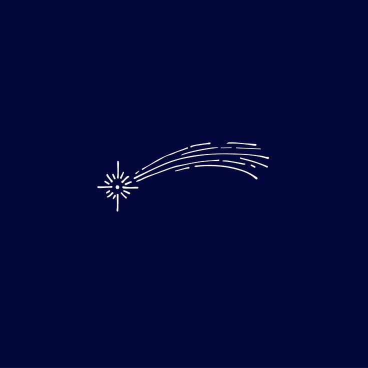 shooting star illustrated by Cherie Allan - @designbycherie - cherieallan.design