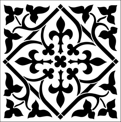 Tile No 3 stencil from The Stencil Library GOTHIC, MEDIEVAL AND TUDOR range. Buy stencils online. Stencil code GMT61.