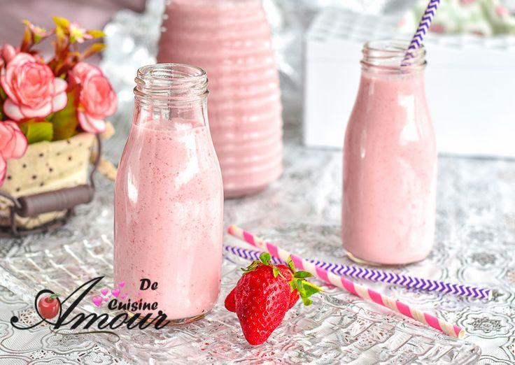 recette de yaourt à boire aux fraises Bonjour tout le monde,  Cette recette de yaourt à boire aux...