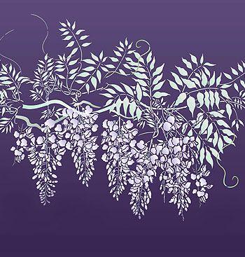 Wisteria Stencil. Large Wisteria Theme Pack Stencil
