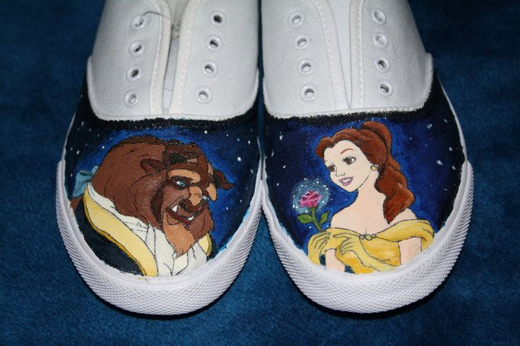 Beauty and Beast Shoes! #shoes #books