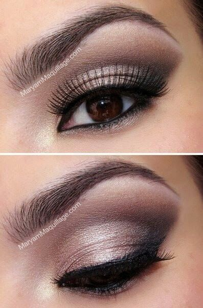 Wedding Ideas: Nice make-up for brown eyed girls.                                                                                                                                                                                 More