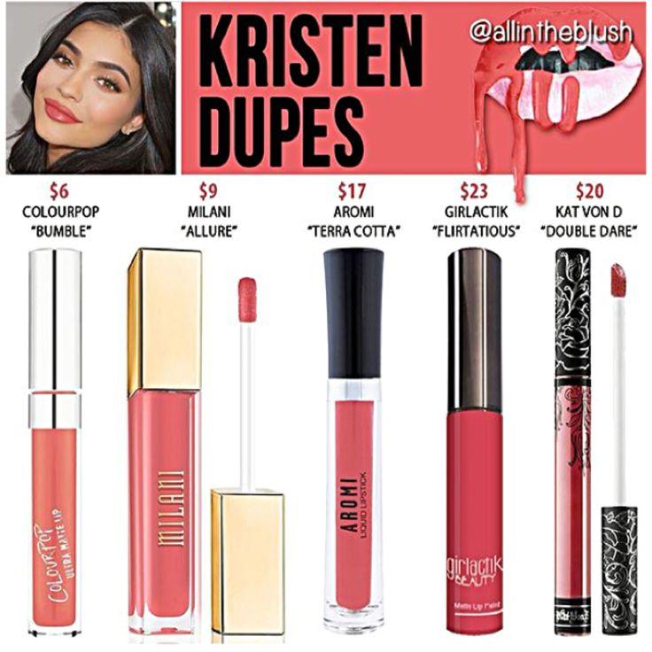 Kylie Jenner lip kit dupes for Kristen
