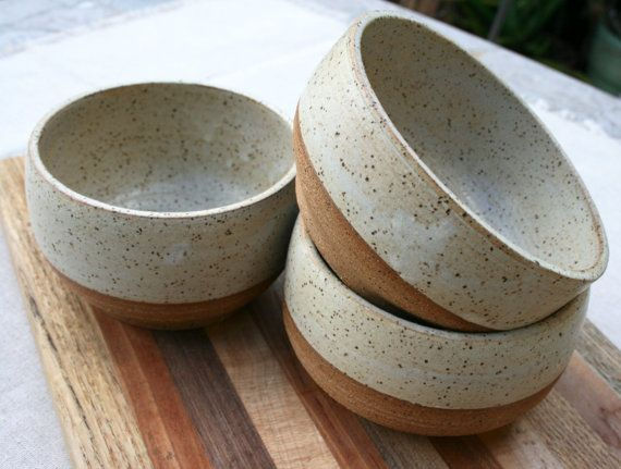 rustic cereal bowl, made to order, matte, speckled pottery, small dish, breakfast bowl, minimal, stoneware pottery, farmhouse, rustic dishes