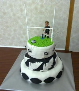 Rugby Cake By Antoinette cakepins.com