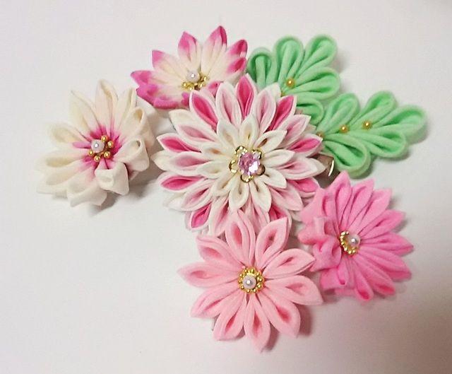 かみ飾り2wayクリップひな菊 15点セット
