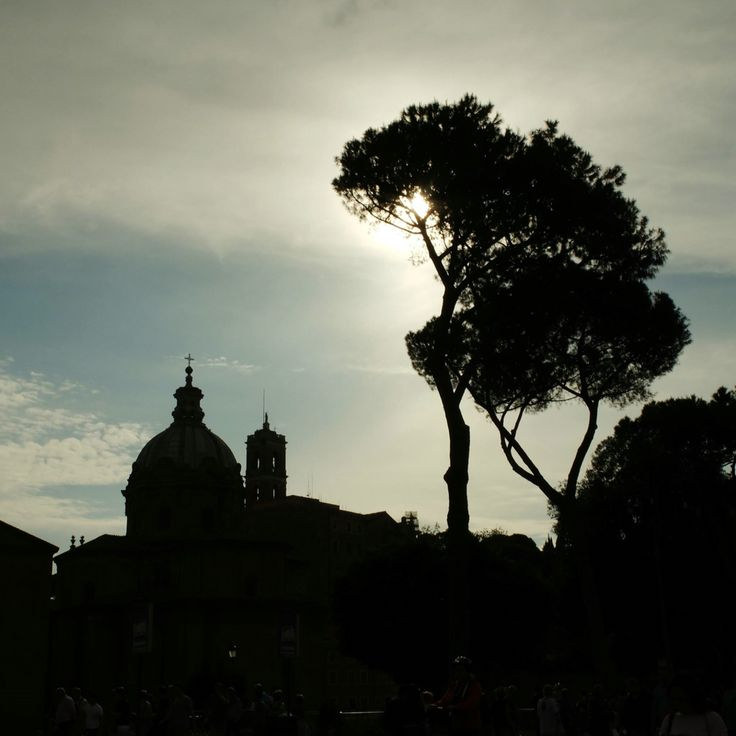 silhouette of the church