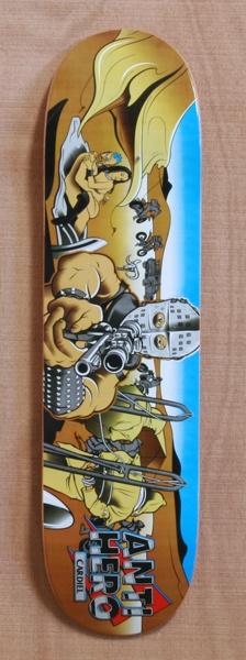 """Anti Hero Cardiel Wasteland 8.12"""" Skateboard Deck"""