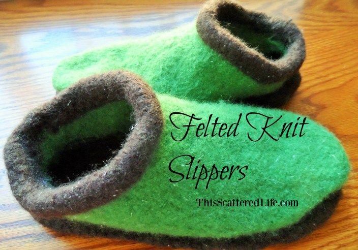Felting 101: Knitted Slippers
