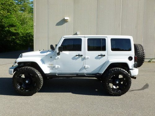 white four door jeep wrangler | 2011 Jeep Wrangler Unlimited Sahara 4-door on 2040cars Discount Wheels and Rims #Discount #CarRims www.wheelhero.com