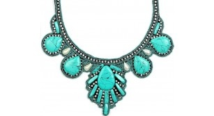 Wishes - Turquoise pearl h/beaded necklace